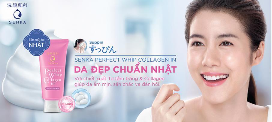 Sữa Rửa Mặt Shiseido Perfect Whip Collagen 120g
