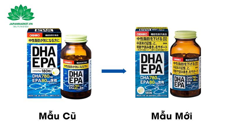 viên uống bổ não dha epa orihiro nhật bản 180 viên mẫu mới