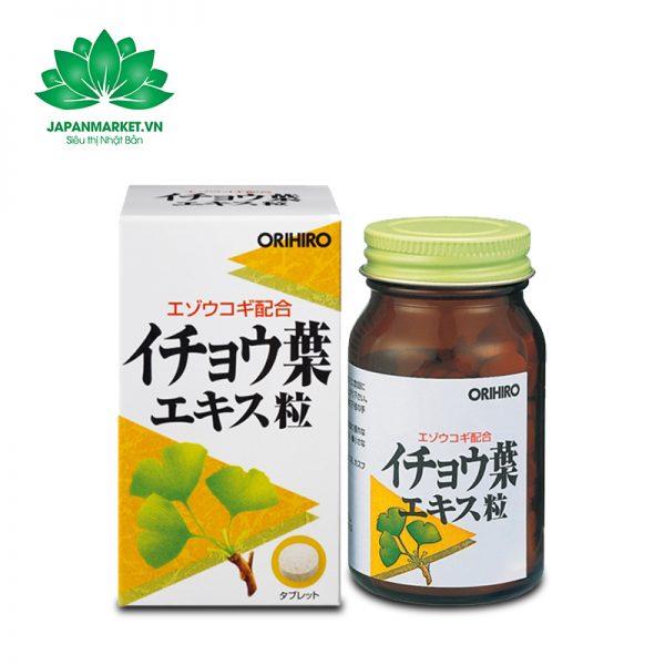 Viên uống hỗ trợ não bộ Orihiro Ginkgo Biloba 240 viên