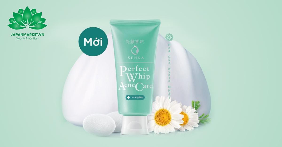 Sữa rửa mặt trị mụn Senka Perfect Whip Acne Care