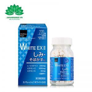 Viên Uống Trắng Da Trị Nám White Ex Nhật Bản 270 viên