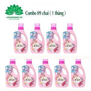 Combo 09 chai Nước giặt Bold 850g P&G màu hồng 4902430911955