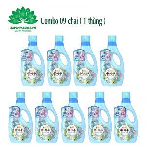 Combo 09 chai Nước giặt Bold 850g P&G màu xanh 4902430911955