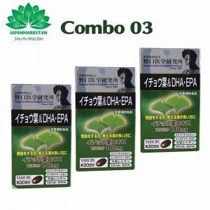 Viên Uống Bổ Não DHA EPA Ginkgo Noguchi Nhật Bản 60 Viên